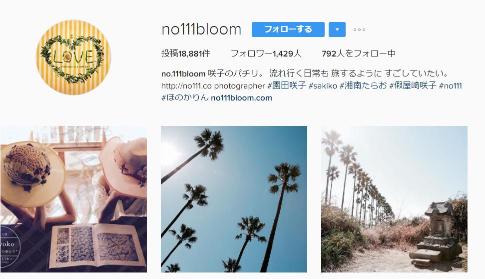 ほのかりん母親園田咲子のインスタトップ画像