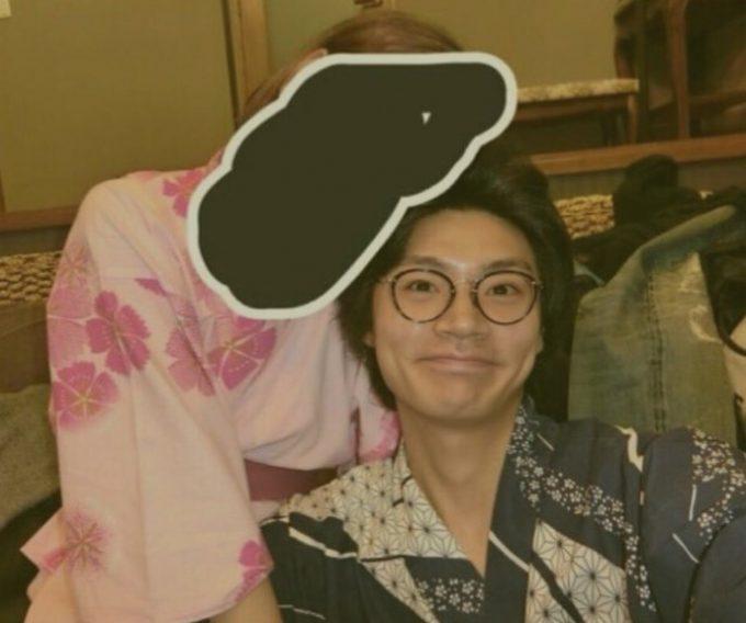 横尾渉と堀田理沙の浴衣ツーショ画像