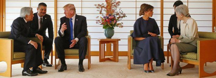 トランプ夫妻と天皇皇后両陛下との会談