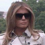メラニア夫人に影武者説・サングラス越しの顔が違う!鼻と顎比較