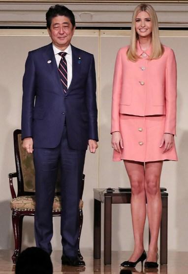 イヴァンカトランプと安倍首相の会見