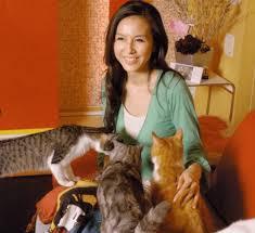 杉本彩と猫の画像