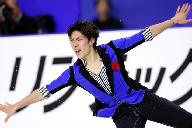 田中刑事スケート競技中の画像