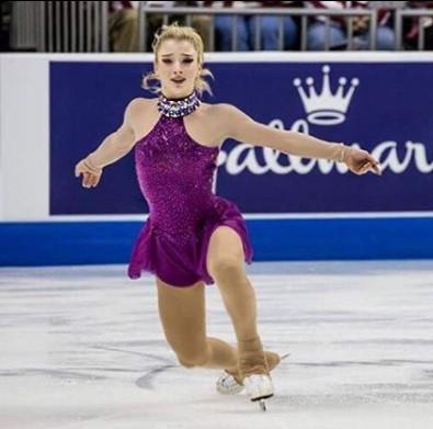 アンバー・グレン、競技中の画像