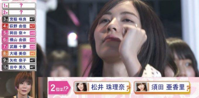 松井珠理奈の性格悪いのがバレるガッツポーズ