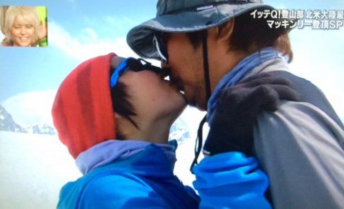 イモトアヤコと石崎Dがキス