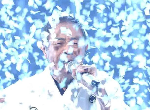北島三郎、風雪ながれ旅で鼻の穴に紙吹雪入る